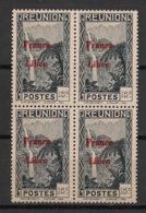 Réunion - 1943 - N°Yv. 224 - France Libre - Cascade 15c - Bloc De 4 - Neuf Luxe ** / MNH / Postfrisch - Réunion (1852-1975)