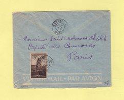 Madagascar - Moroni - 1953 - Comores - Destination France - Covers & Documents