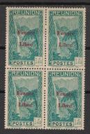 Réunion - 1943 - N°Yv. 228 - France Libre - Cascade 1f40 - Bloc De 4 - Neuf GC ** / MNH / Postfrisch - Réunion (1852-1975)