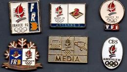 6 Pin's MEDIA TELEVISION JO ALBERTVILLE 92 - Olympic Games