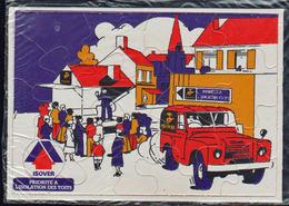 COURBEVOIE: RARE Carte Pub Puzzle De Isover (Leader Mondial De L'isolation) Siège Social à Courbevoie - Courbevoie