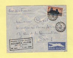 Nouvelle Caledonie - Noumea - Premier Voyage Regulier Par Air France - 30 Sept 1949 - Nueva Caledonia