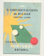 BILLARD / BILHAR -- Programme Du XI Championnat D'Europe à Estoril En 1961 ( Portugal ) (jm) - Sport