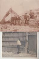 Peche  -   2 Photos  Du Travail Des Pêcheurs ( Certainement  LE HAVRE ) - Profesiones