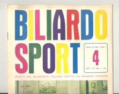 BILLARD / BILIARDO Sport - Revue De 1962 N° 4 (jm) - Sport