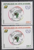 Côte D'Ivoire Ivory Coast 2018 27ème Congrès UPU Union Postale Universelle Map Abidjan 2020 Elephant Elefant 2 Val. - Côte D'Ivoire (1960-...)