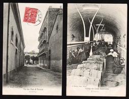 ORAN: Lot De 2 Cartes Oblitérées à Oran De La Maison Des Vins Th.Sénéclauze - Oran