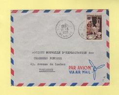 Reunion - Saint Denis - 11-4-1956 - CFA - Destination France - Reunion Island (1852-1975)