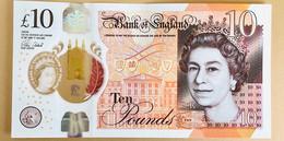 INGHILTERRA - GB - Bank Of England - 2017 - Banconota Polimerica - Jane Austen - 10 Sterline - 10 Pounds