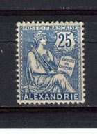 FRANCE - ALEXANDRIE - Y&T N° 27** - MNH - Type Mouchon - Unused Stamps