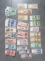Lot De Billets Divers - Espagne/France/Brésil/Chine/Lituanie/Italie/Maroc - Billets