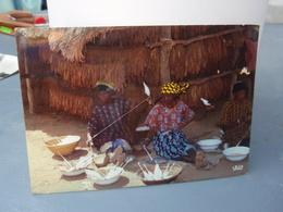 Cp Conarry Filage Du Coton Beau Timbre. 1985 - Guinée