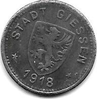 Notgeld Giessen 10 Pfennig  1918 Fe 4853.3 - [ 2] 1871-1918 : Empire Allemand