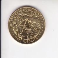 Jeton Médaille Monnaie De Paris MDp Grotte La Cocalière Nuit Insolite 2019 - 2019