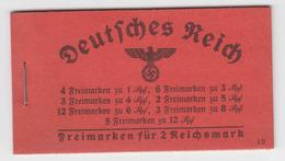 DR Markenheftchen MH 39.2 ** - Hindenburg 1940 - Markenheftchen