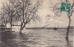CHALONNES-sur-LOIRE - Pont Suspendu Pendant Une Inondation - Chalonnes Sur Loire