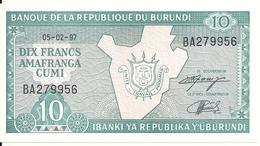 BURUNDI 10 FRANCS 1997 UNC P 33 D - Burundi
