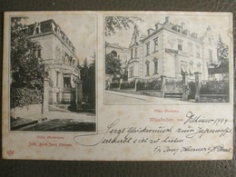 Postkarte 1904 - Wiesbaden - Villa Violetta - Villa Monbijou - Frau Joey Werner - Wiesbaden