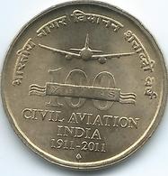 India - 5 Rupees - (2011) - Centenary Of Civil Aviation - KM397 - India