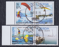 Serbia And Montenegro (Yugoslavia) 2004 Europa CEPT With Vignette, Used (o) Michel 3196-3197 - Gebruikt