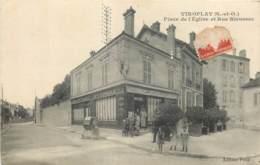 78 - VIROFLAY - Place De L'eglise Et Rue Rieussec - Vins Et Tabac Maison Pelle - Viroflay