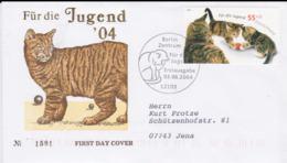 Germany FDC 2004 Cats - Für Die Jugend    (G55-50) - Hauskatzen