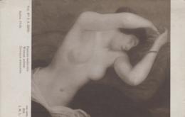 Arts - Tableau - Jeune Femme Endormie - Peintre Mlle C H Dufau - Salon 1916 - Paintings