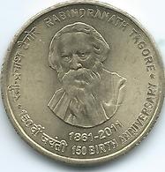 India - 5 Rupees - (2011) - 150th Anniversary Of The Birth Of Rabindranath Tagore - KM393 - India