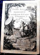 PETIT ATLAS MODERNE MAP CARTE GEOGRAPHIQUE ANCIENNE PAGE DE TITRE DECOUPEE FRONTISPICE GRAVE 18° - Geographical Maps