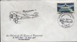 FDC 544 - FRANCE N° 1418 Sur Lettre Spirit Of St-Louis à Concorde 1977 - FDC