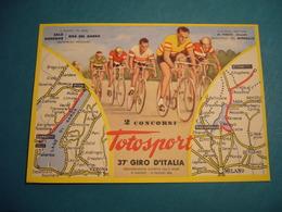1954 37° GIRO D'ITALIA  TAPPA SALO' GARDONE - RIVA DEL GARDA TOTOSPORT  CIRCOLO FILATELICO BRESCIANO - Cyclisme