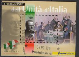 PIA  -  ITALIA  -  2011  : I Protagonisti Dell' Unità D' Italia : Camillo Benso Conte Di Cavour -   (SAS  Bf  71) - Blocchi & Foglietti