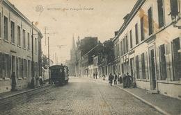 Boussu Rue François Dorzée Edit Albert Tramway Tram Timbrée - Boussu