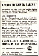 Original-Werbung/ Anzeige 1957 - EMSER BALSAM - BAD EMS - Ca. 60 X 80 Mm - Werbung