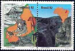 "BRAZIL #2382 -  NATIONAL PARK   ""SERRA DA CAPIVARA"" -  1992  - USED - Brazil"