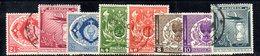 APR1731 - PAKISTAN 1951 , Indipendenza : Yvert N. 55/62  Usata  (2380A)  INDIPENDENZA - Pakistan