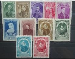 BELGIE  1941     Nr. 573 - 582  /  581 A - 582 A      Postfris **   CW  17,00 - Belgien