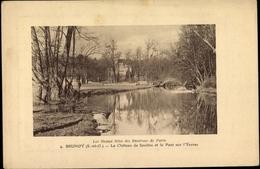 Gaufré Cp Brunoy Essonne, Chateau De Soulins,Pont,Yerres - France