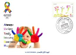 DZ Algerien 1741 Weltautismustag Krankheiten Gesundheit Behinderungen - Krankheiten