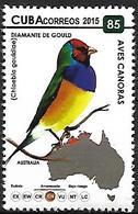 CUBA - MNH - 2015 -        Gouldian Finch    Erythrura Gouldiae - Grues Et Gruiformes