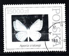 Polen 1991 Mi Nr 3349, Vlinder, Buttefly,  Met Hologramfolie - Gebruikt