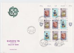 Isle Of Man 1976 FDC Europa CEPT Complete Sheet   (LAR-A32) - Europa-CEPT