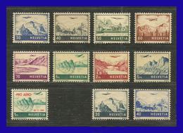 1941 - 48 - Suiza - Scott Nº C 27 / C 34 + C 35 - + C 43 / C 44 - MNH - SU- 712 - Nuevos