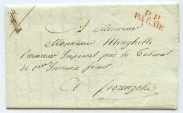 1807 Italien Vorphila Brief Parnie Nach Fiorenzuola - ...-1850 Préphilatélie