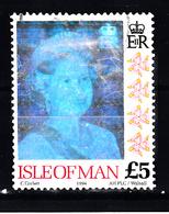 Ilse Of Man 1994 Mi Nr 601, Koningin Elisabeth II Met Hologramfolie, Waarde 5 Pound - Man (Eiland)