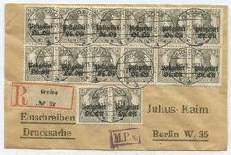 1916 Deutsches Reich Postgebiet Ob.Ost Zensur R Brief Grodno Nach Berlin - Lettres & Documents