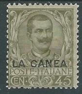 1905 LEVANTE LA CANEA FLOREALE 45 CENT MH * - RA10-6 - 11. Uffici Postali All'estero