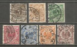 Germany Reich 1889 Year,  Used Stamps  Set , Mi # 45-50 - Oblitérés