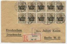 1916 Deutsches Reich Besetzung Polen Zensur R Brief Kalisch Nach Berlin - Lettres & Documents