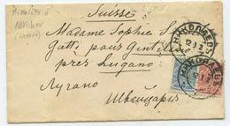 1912 Russland Ukraine Brief Nikolajew Nach Gentilino Schweiz - Lettres & Documents